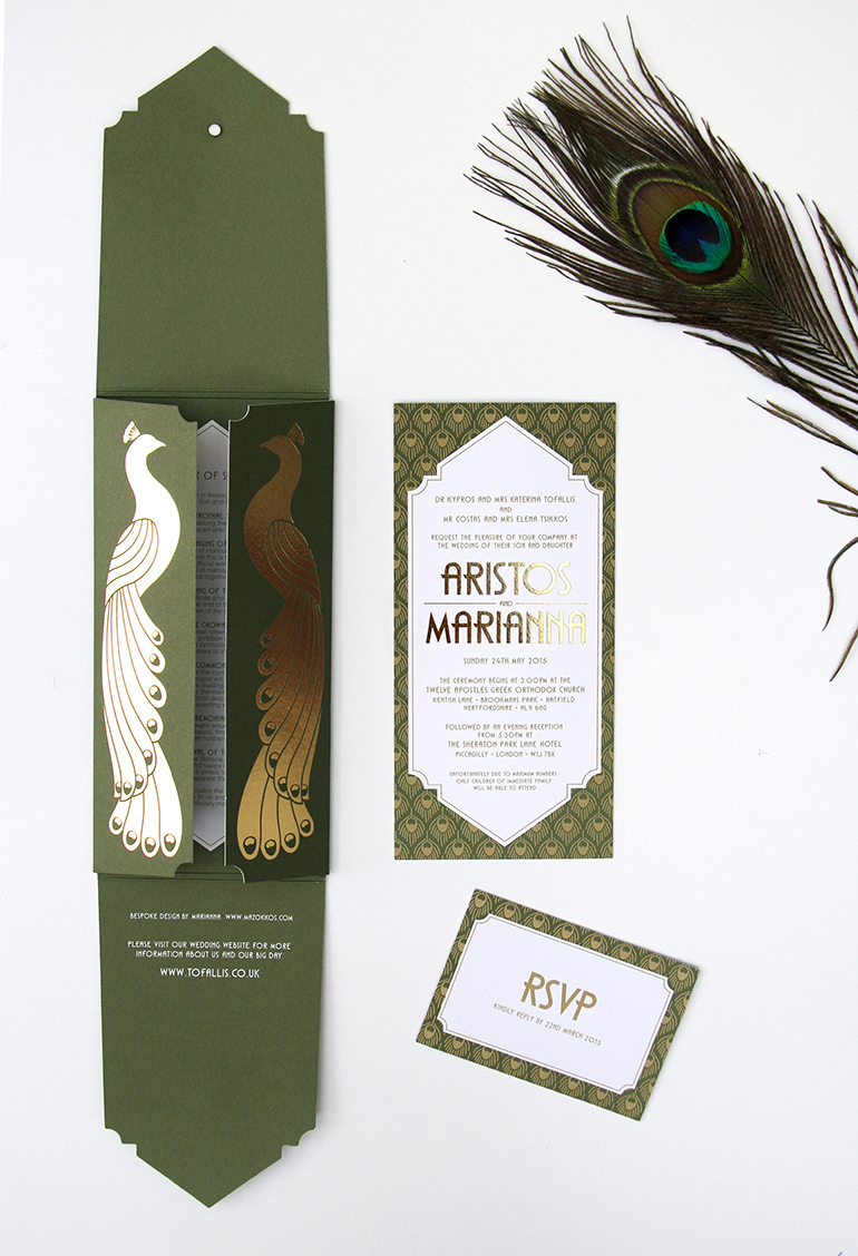 Luxury Peacock Themed Invitations-0