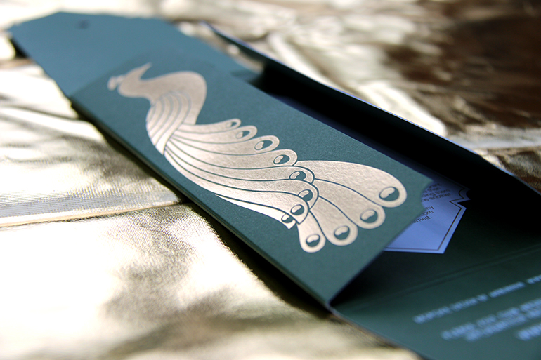 Luxury Peacock Themed Invitations-6