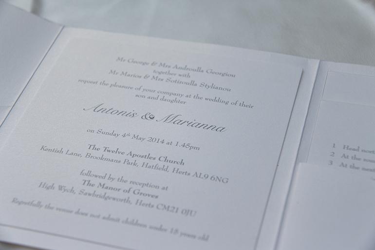 Bespoke Silver Brooch Wedding Invitation-1