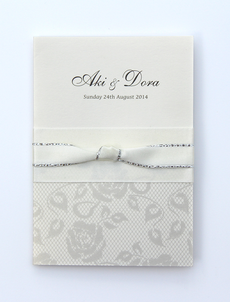 Bespoke Ribbons and Lace Wedding Invitations-0